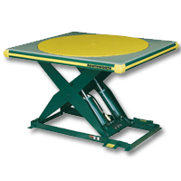 Southworth Scissor Lift Table with Flush Mount Turntable